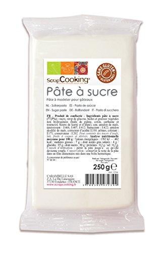 Pâte à sucre parfumée à la vanille, ScrapCooking (Blanc)
