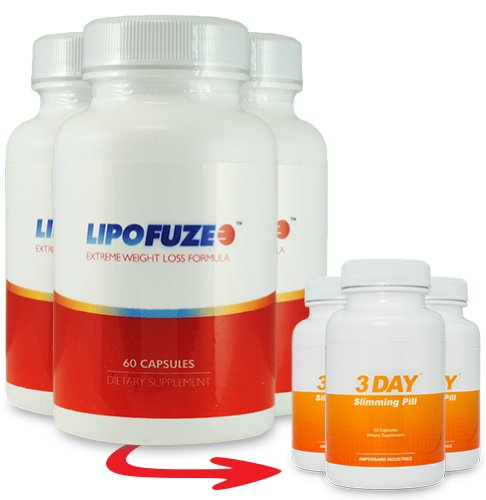 Lipofuze 3 Bottles and 3 Free 3 DSP - Best Fat Burner - Fat Burner Pill and Metabolism Booster - Best Fat Burner 2013 and Metabolism Miracle