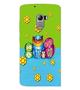 PrintDhaba Owl D-3533 Back Case Cover for LENOVO VIBE K4 NOTE (Multi-Coloured)