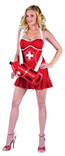 Off Duty Lifeguard Mini Dress with Float - Medium / Large