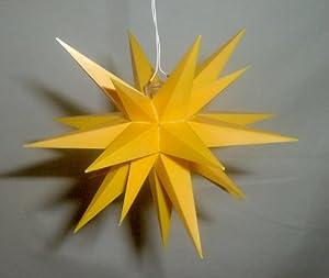 a1e gelb weihnachtsstern herrnhut f r innen kunststoff. Black Bedroom Furniture Sets. Home Design Ideas