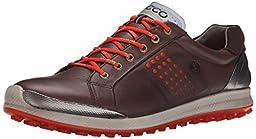 ECCO Men\'s Biom Hybrid 2 Golf Shoe, Mocha/Fire, 45 EU/11-11.5 M US