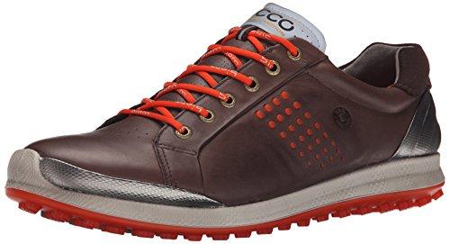 ECCO Men's Biom Hybrid 2 Golf Shoe, Mocha/Fire, 47 EU/13-13.5 M US (Ecco Golf Shoes 47 compare prices)