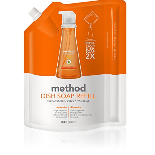 Method Dish Soap Pump Refill, Clementine, 36 Ounce (Pack of 2) (Method Dish Detergent Refill compare prices)