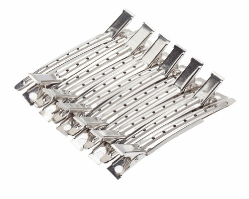 12 Silver Long Sectioning Styles Styling Hair Clips Clasps Clamps Grips By Vaga®