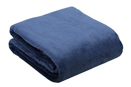 ZOLLNER-hochwertige-Coral-Fleece-Decke-Kuscheldecke-Plaid-Wohndecke-Wolldecke-220x240-cm-rauchblau-in-weiteren-Farben-und-Gren-erhltlich-direkt-vom-Hotelwschespezialisten-Gewicht-ca-280gm-Serie-Ortler
