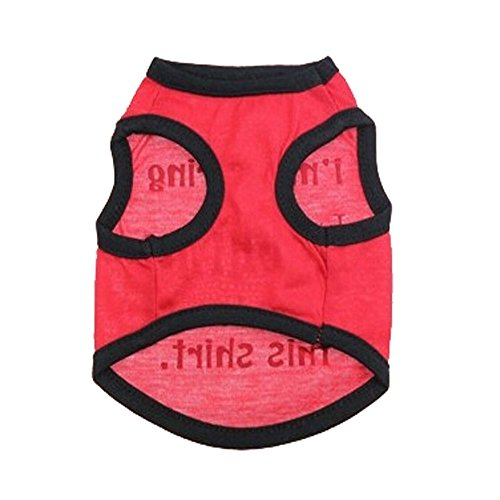 P&Q Estore Pet Apparel Dog Summer Shirt Cute Pet Clothing Ployster Material Clothes for Small Dog Puppy Costume for Pets,Free Gift