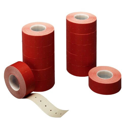 Herlitz 10791374 Étiquettes de prix 1 ligne Rouge 12 rouleaux / 1200 étiquettes (Import Allemagne)