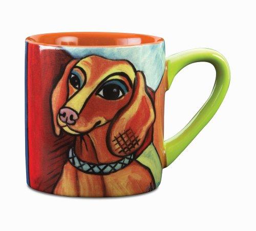 Paw Palettes Dachshund Pawcasso Ceramic Mug, 16-Ounce front-63529