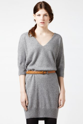 Short Sleeve Lurex Crewneck Sweater Dress