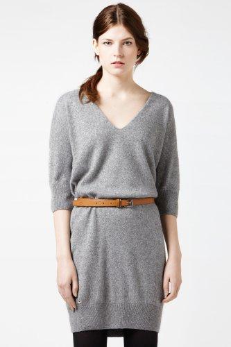 Short Sleeve Lurex Crewneck Sweater Dress
