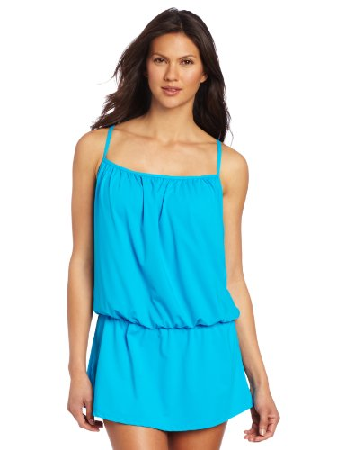 Jones New York Women's Blouson Swim Dress