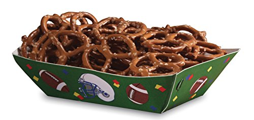 Creative Converting 6 Count Football Snack Server, Brown