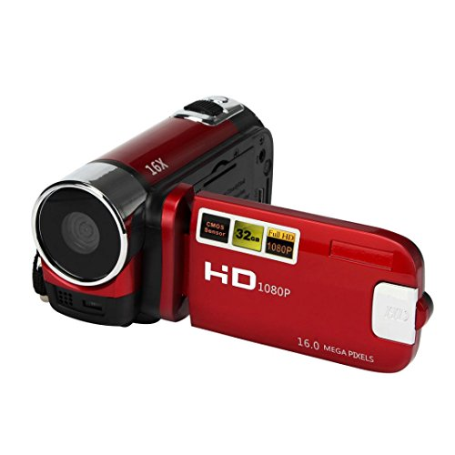 Hotkey HD 1080P 16M 16X Digital Zoom Video Camcorder Camera DV Red (Top Rated Camcorders compare prices)