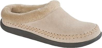 Tempur-Pedic Women's Suede Mule Slippers,Natural,9 M US