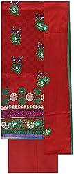Gunjan Women's Silk Unstitched Salwar Suit (Maroon)