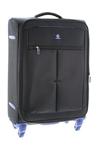 Pianeta Trolley baule valigia, trolley da viaggio bagaglio per il viaggio morbido (nero L)