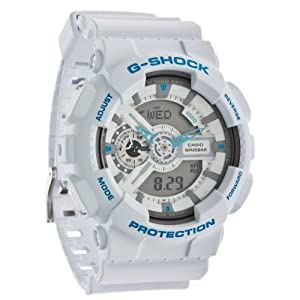 casio g shock montre blanche turquoise oversize pour homme ga 110sn 7aer montres. Black Bedroom Furniture Sets. Home Design Ideas