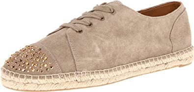 Nine West Women's Ohweeoh Espadrille,Taupe Suede,10.5 M US