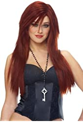 Sleek Red Deluxe Wig