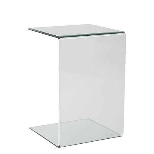 Tuoni Hall Tavolino, Vetro, Trasparente, 2 Pezzi