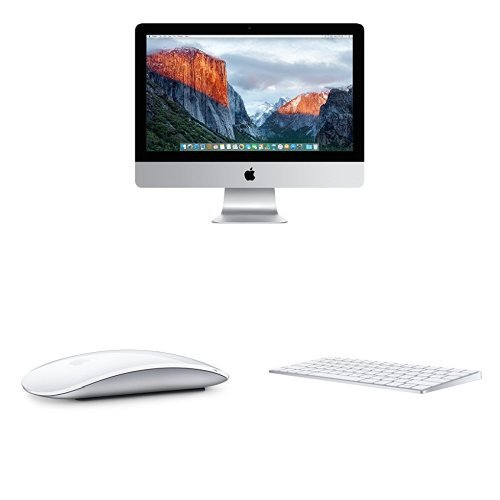 Apple iMac MK142LL/A 21.5-Inch Desktop (NEWEST VERSION) & Magic Mouse & Keyboard Bundle