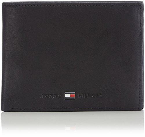 Tommy Hilfiger Johnson Cc Flap And Coin Pocket Porta Carte di Credito, 75 cm, Nero