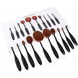 TDream Professional Oval 10Pcs Black Makeup Brush Set Soft ToothBrush Pro Foundation Powder Cream Blush Concealer...