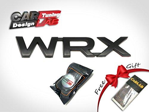 [해외](1) 제한 매트 매트 블랙 트렁크 게이트 WRX 2015-Up 용 배지 엠블럼 스바루 WRX STI/(1) Limited Matte Matt Black Trunk Gate WRX Badge Emblem For 201
