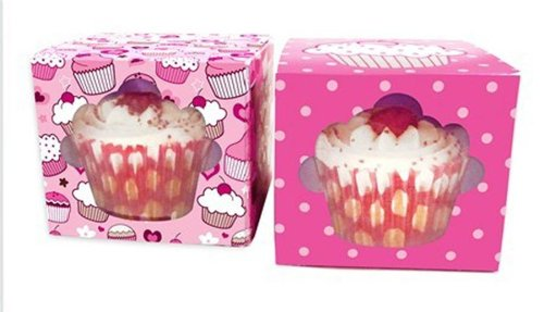 Cupcake Cake Party Birthday Decoration Set of 6 Cup Cake Gift Boxes