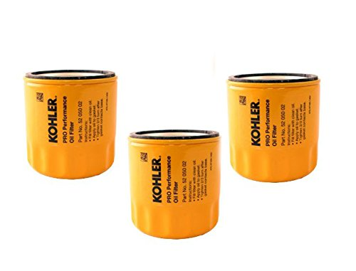 KOHLER 52 050 02-S Engine Oil Filter Extra Capacity For CH11 - CH15, CV11 - CV22, M18 - M20, MV16 - MV20 And K582 (Pack of 3) (Small Engine Parts Kohler compare prices)