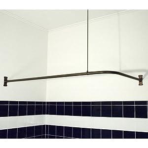 "Amazon.com - Extra Heavy Corner Shower Curtain Rod (48"" L x 48"" W"