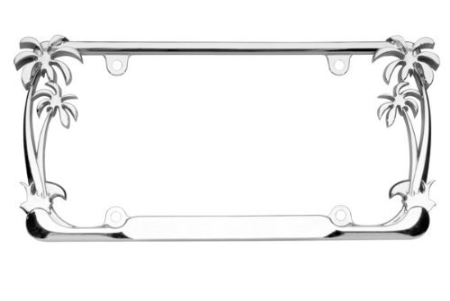 Cruiser Accessories 19003 Chrome Palm Tree Frame (Hibiscus License Plate Frame compare prices)
