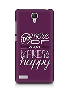 AMEZ do more of what makes you happy Back Cover For Xiaomi Redmi Note