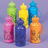 Neon Monkey Water Bottle (1 dozen) - Bulk [Toy]