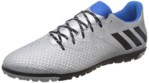 [アディダス] adidas サッカートレーニングシューズ メッシ 16.3 TF S79642 S79642 (シルバーメット/コアブラック/ショックブルーS16/26.0)