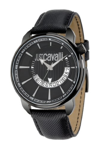 just-cavalli-mens-quartz-watch-with-black-dial-analogue-display-and-black-leather-bracelet-r72511810