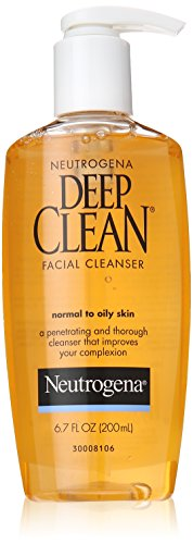 Neutrogena Deep Clean Facial Cleanser, Normal to Oily Skin, 6.7 Ounce (Pack of 6)