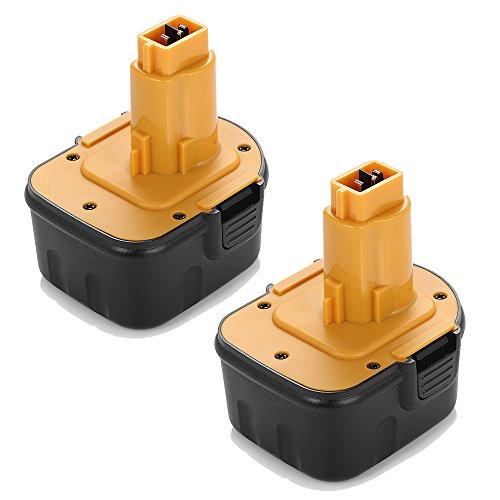 Powerextra™ 2 Pack High Capacity 3000Mah Dewalt 12V Replacement Battery For Dewalt Dw9071 Dw9072 Dc9071 De9037 De9071 De9072 De9074 De9075 152250-27 397745-01