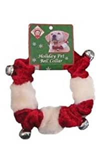 Kyjen PP01771 Dog Bell Collar Holiday Pet Accessories, Medium, Red