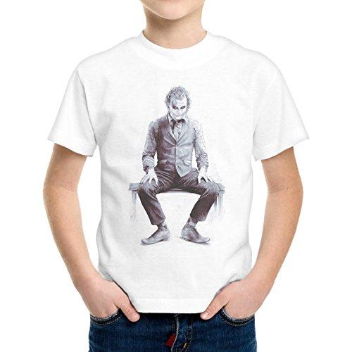 T-Shirt Bambino Ragazzo Joker Seduto Batman Why So Serious -