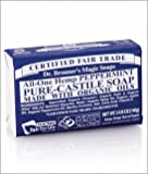 Dr. Bronners Magic Soaps Pure-Castile Soap, All-One Hemp Peppermint, 5-Ounce Bars (Pack of 6)