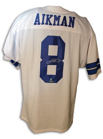 Autographed Troy Aikman Dallas Cowboys Throwback White Jersey at Amazon.com