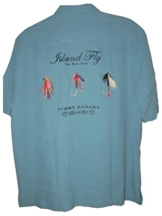Tommy bahama embroidered island fly silk camp shirt color for Tommy bahama embroidered silk camp shirt