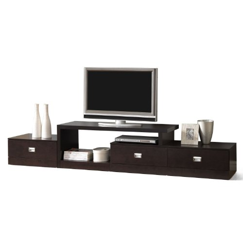 Baxton Studio Marconi Brown Asymmetrical Modern TV Stand (FTV-4125)