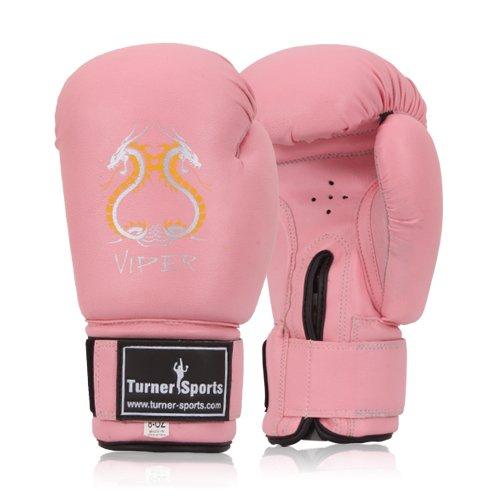 PU Kick Boxing Gloves Professional Martial Arts Sparring bag Gloves Pink 10oz