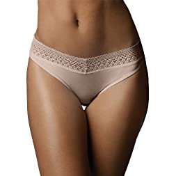 Microfiber with Lace Bikini Panty