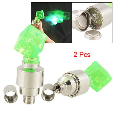 Como Auto Car Bike Tyre Tire Flash LED Lamp Valve Cover Cap