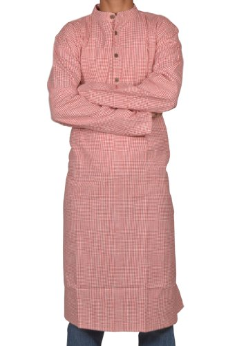 Handmade Casual Wear Indian Khadi Long Mens Kurta Fabric For Winter & Summers Size-XXL