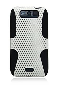 buy Hhi Mesh Plate Duo Shield Case For Lg Viper 4G Lte - Black/White (Package Include A Handhelditems Sketch Stylus Pen)